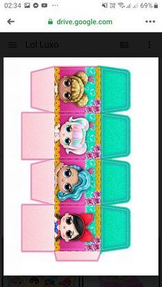Page Borders Design, Border Design, Lol Doll Cake, Cake Templates, Printable Box, Doll Party, Lol Dolls, Vintage Flowers, Scrap