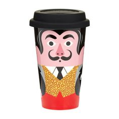 Take your coffee to go with this playful Salvador Dalí travel mug. The double walled ceramic mug and durable silicone lid ensure it is perfect for keeping your beverages hot on cold winter mornings. Salvador Dali, Hepworth Wakefield, Coffee To Go, Ceramic Cups, Design Thinking, Travel Mug, Illustration, Things To Come, Pottery