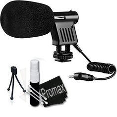 Promax Mini Zoom Video Camera Shotgun Microphone for Canon EOS Rebel XS, XSi, XT, XTi, T2i, T3i, T4i, T5, T5i, 10D, 20D, 30D, 40D, 50D, 60D, 70D, 7D Digital SLR Cameras