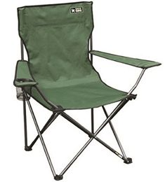 Quik Chair Portable Folding Chair With Arm Rest Cup Holder And Carrying And Stor for sale online Best Folding Chairs, Folding Camping Chairs, Quad, Camping Stool, Steel Frame Construction, Equipment For Sale, Hiking Equipment, Butterfly Chair, Green Bag