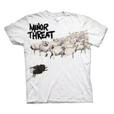 Minor Threat Out of Step Tee - Featuring artwork from the band's sole studio album released in 1983, this Minor Threat Out of Step T-Shirt is a classic.