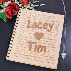 Engraved Couples Wooden Picture Album | Love Engraved Photo Album