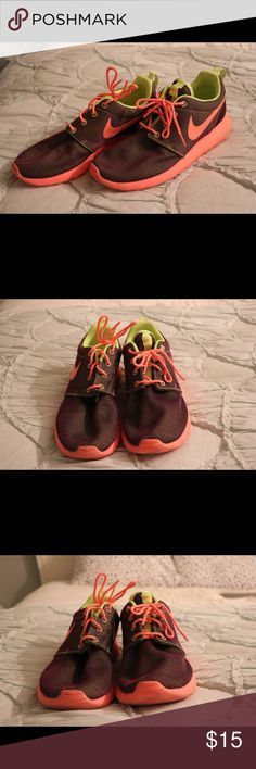 Neon Nike Rosches Neon & worn twice! Shoes Sneakers