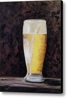 Full Beer Canvas Print / Canvas Art By Barbara Janecka