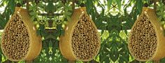 "Increase pollination in your garden with these cool ""urban beehives"", great for the local bee populations too!"