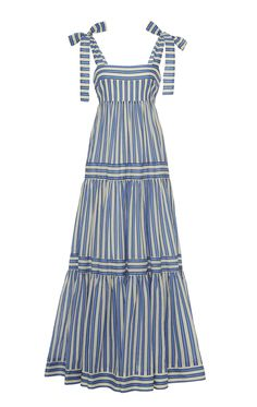 Zimmermann Verity Striped Cotton-Voile Maxi Dress Source by modaoperandi dresses design 70s Fashion, Look Fashion, Fashion Dresses, Fashion Tips, Fashion Design, Classy Fashion, Modest Fashion, Korean Fashion, Fashion Online
