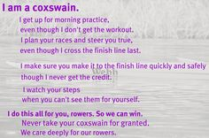 Remember to show your coxswain some love. #crew #rowing