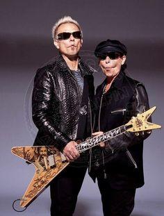 A zany pair, haha! Klaus Meine. Rudolf Schenker. Scorpions.