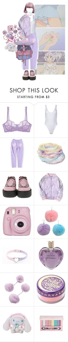 """20 dollars"" by hibike ❤ liked on Polyvore featuring GET LOST, JEM, Cosabella, T.U.K., Fujifilm, Vera Wang, Lime Crime, Hello Kitty, Pop Beauty and Etude House"