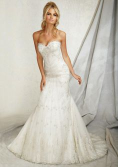 Like the hair....Wedding Gown From AF Couture By Mori Lee Style 1258 Embroidery on Net