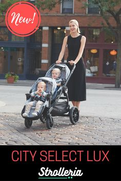 The new Baby Jogger City Select LUX stroller features high-quality upgrades—and folds smaller than the original! Double Strollers, Baby Strollers, City Select Lux, Convertible Stroller, Baby Jogger City Select, Single Stroller, Sun Canopy, Tandem, Peek A Boos