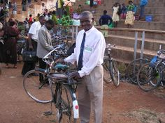 Brother Moyo still riding his bicycle the five miles to the Kingdom Hall despite his 90+ years of age.  The original witness in Songea, Tanzania.
