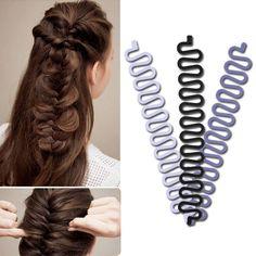 Women Braid Plaiting Twist Braider Hook Bun Maker Plastic Hair Styling Tool 1Pc #ebay #Fashion