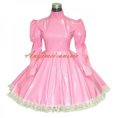 Fond Cosplay Gothic lolita punk pink PVC dress Tailor-made - Maid Outfit, Maid Dress, Frilly Dresses, Short Dresses, Petticoated Boys, Vinyl Clothing, Sissy Maid, Gothic Lolita, Costume Accessories