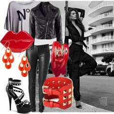 """RED"" by evelinsabjan on Polyvore"