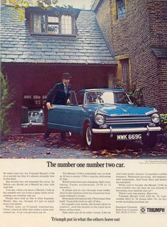 "Triumph Herald 13/60 ""The number one number two car"""