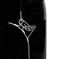 """""""Grillo"""" - Imagen gráfica y etiqueta serigrafiada sobre vidrio para los vinos del Somontano by Isidro Ferrer (03)."""