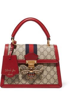 Gucci Queen Margaret GG small top handle bag - Shop the Queen Margaret GG small top handle bag by Gucci. An eclectic mixture of historical Gucci d - Gucci Purses, Burberry Handbags, Chanel Handbags, Gucci Bags, Gucci Bee Bag, Chanel Bags, Suede Handbags, Fall Handbags, Purses And Handbags