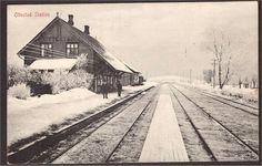Hedmark fylke Stange kommune Ottestad Station. Utg Normann. Stemplet 1913.