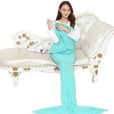 Mermaid Throw Blanket Handmade Mermaid Tail Blanket for Adult Kid Multi Colors 3 Size Soft Crochet Mermaid Blanket Crochet Mermaid Blanket, Mermaid Tail Blanket, Rave Wear, Knitted Blankets, Summer Dresses, Kid, Handmade, Colors, Women