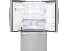 LG - 31.7 Cu. Ft. French Door Refrigerator with Thru-the-Door Ice and Water - Stainless Steel - Alternate View 2