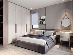 Modern apartment on Behance Luxury Bedroom Furniture, Master Bedroom Interior, Bedroom Closet Design, Home Room Design, Modern Bedroom, Bedroom Colors, Room Decor Bedroom, Home Bedroom, Nordic Bedroom