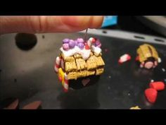 tutorial casina di marzapane in fimo, polymer clay gingerbread house