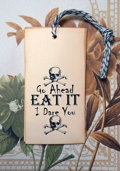 Tags Goth Halloween Skull Food Gifts Vintage Style by bljgraves Pirate Halloween Party, Pirate Party Favors, Party Favors For Adults, Halloween Tags, Pirate Birthday, Halloween Skull, Halloween Crafts, Adult Halloween, Pirate Food