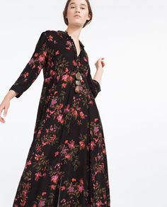 LONG DRESS WITH FLORAL PRINT-View All-DRESSES-WOMAN | ZARA Israel