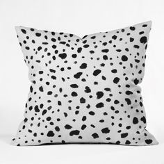 Rebecca Allen Miss Monroes Dalmatian Throw Pillow | DENY Designs Home Accessories