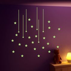 Pick and Stick - Sticker Phosphorescent, X cm [Nuée d'Étoiles] Achica 10 € Decorating Your Home, Sweet Home, Chandelier, Ceiling Lights, Baby, Inspiration, Home Decor, Wall Decals, Biblical Inspiration