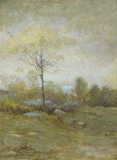"''Spring, Lyme,'' Lewis Cohen, 1902, oil on board, 16 x 12"", private collection."