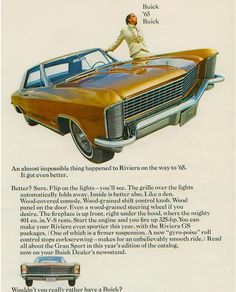 Buick Riviera Ad 65. Love this car