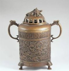 ANTIQUE CHINESE TEMPLE INCENSE BURNERS | photos not available for this variation