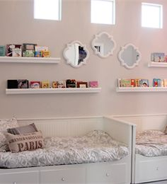 A VERY SWEET LITTLE GIRLS ROOM......FOR TWO?  OR FOR ONE AND A SPARE FOR SLEEP OVERS