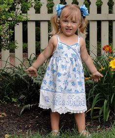 ForgetMeNot Vintage Linen Baby Sundress by onlyu on Etsy, $48.00