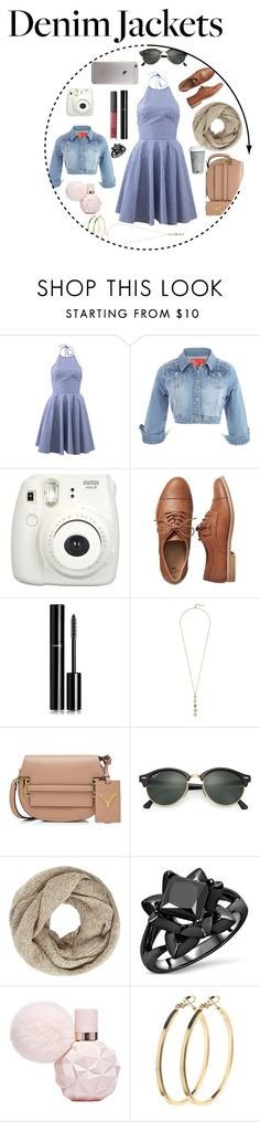 """""""Denim is my middle name, jk"""" by saharahara-youtube ❤ liked on Polyvore featuring Michael Kors, Fujifilm, Gap, Chanel, Cole Haan, Valentino, Ray-Ban, John Lewis, Pieces and Fitz & Floyd"""
