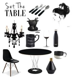 """""""Black one @nc4you"""" by nc4you on Polyvore featuring interior, interiors, interior design, Zuhause, home decor, interior decorating, Gallery, Sabichi, Riedel und Pier 1 Imports"""