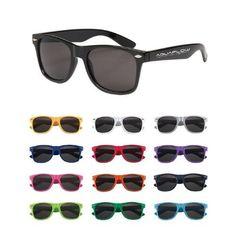 Custom Promotional Malibu Sunglasses - CLEAR WITH LOGO - 100 FOR $244