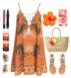 """Orange Blossom"" by fashionkat20 ❤ liked on Polyvore featuring Kiss The Sky, Lilly Pulitzer, Gucci, Kate Spade, NYX, Urban Decay and Lancôme"