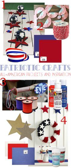 Memorial Day is right around the corner! Check out these craft ideas to show your patriotic pride!