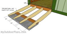This step by step diy woodworking project is about shed ramp plans. The project features instructions for building a simple wide shed ramp. The shed ramp is sturdy and simple to build in the same time. Garden Shed Kits, Diy Shed Kits, Wooden Playhouse Kits, Build A Playhouse, Playhouse Outdoor, Wood Shed Plans, Diy Shed Plans, Building A Storage Shed, Shed Storage