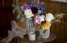 Wedding flower inspiration for a nautical beach wedding