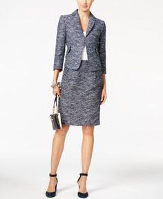 Tommy Hilfiger Tweed Jacket & Straight Skirt    macys.com