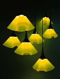 The shape of a coral was the source of inspiration for the design of the QLD-103 LED pendant light. The LEDs shine through the units reminding of flowers. Qisda Corporation