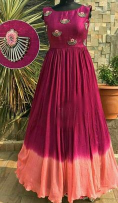 Best 12 Nishtha's favourite – SkillOfKing. Frock Fashion, Indian Fashion Dresses, Indian Gowns Dresses, Dress Indian Style, Indian Designer Outfits, Indian Wear, Half Saree Designs, Bridal Blouse Designs, Long Gown Dress
