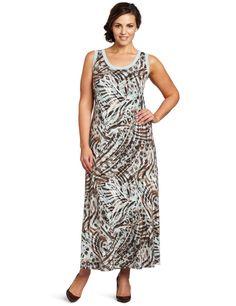 8c67f79cd4e Karen Kane Women s Plus-Size Animal Print Maxi Dress