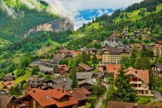 Most beautiful villages and towns in Switzerland. This is our list of the top places we dont think you should miss on your visit to Switzerland. Beautiful Places In The World, Places Around The World, Around The Worlds, Zermatt, Rafting, Places To Travel, Places To See, Wengen Switzerland, Cruise Destinations