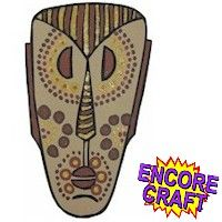 Aboriginal Mask, have kids paint and frame or try our hand at making these with wood?