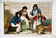 Saturday Night at Sea or Nautical Notions of Honor (caricature) - National Maritime Museum